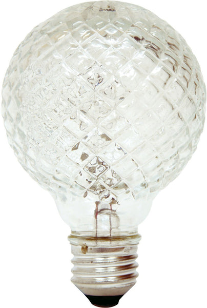 GE Lighting 16774 Decorative Halogen Crystal G25 Globe Bulb, 40W, 120V