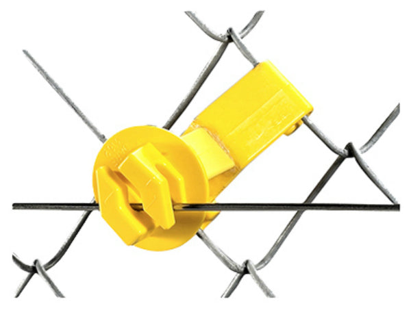 Dare SNUG-SU-25 Snug Chain Link & U-Post Insulators, Yellow, 25-Pack