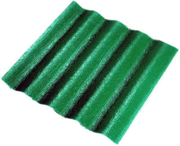 "Crane Composites C25TF.132 WeatherGlaze® Corrugated Fiberglass Panel, 26"" x 10', Green"