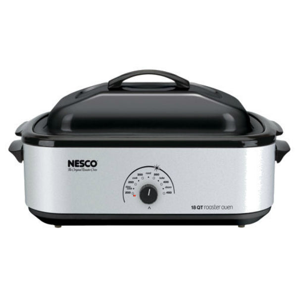 Nesco 4818-47 Exclusive Design Roaster, Silver, 18-Quart