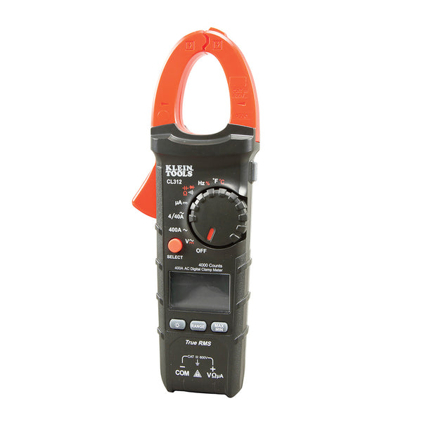 Klein Tools CL312 Auto-Ranging True RMS 400A AC Digital Clamp Meter for HVAC