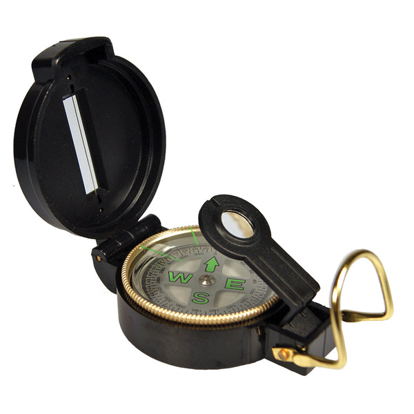 UST 20-310-DC45 Lensatic Compass with Adjustable Lens, Black