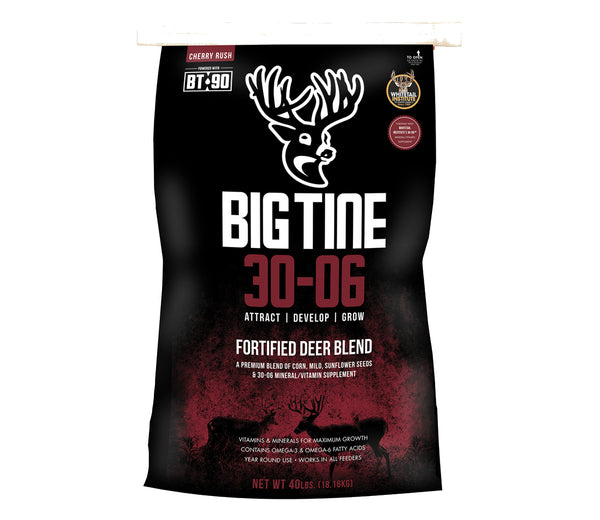 Big Tine DB40A Cherry Rush 30-06 Fortified Deer Blend with BT-90, 40 Lb