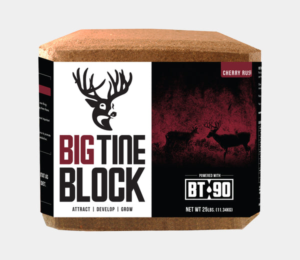 Big Tine DB02 Cherry Rush Block Deer Supplement with BT-90, 25 Lb