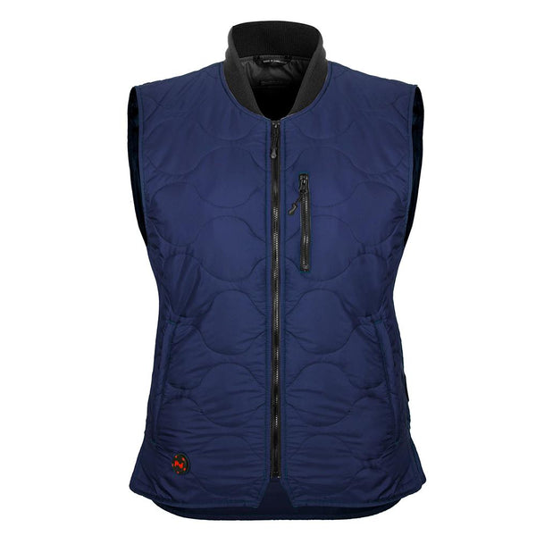 Mobile Warming MWJ18W06-06-04 Bluetooth 7.4 Volt Womens Vest, Navy, Large