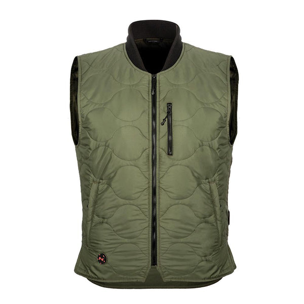 Mobile Warming MWJ18M17-21-04 Bluetooth Mens Company Vest, Olive, Large