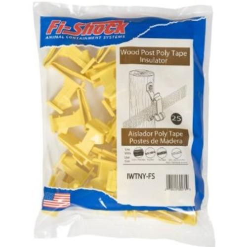 Fi-Shock IWTNY-FS Poly Tape Wood Post Insulator, Yellow