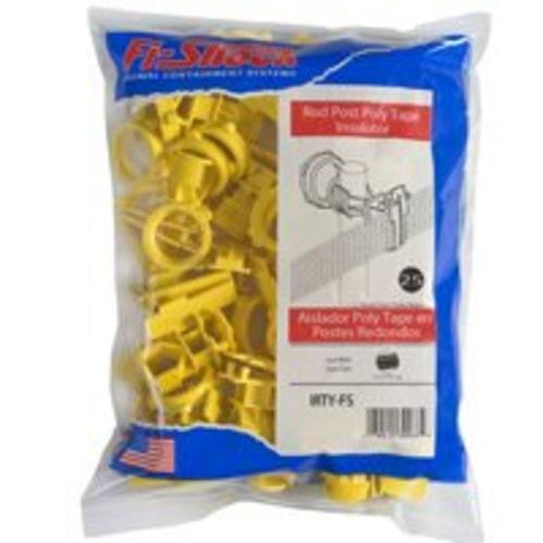 Fi-Shock IRTY-FS Poly Tape Round Post Insulator, Yellow