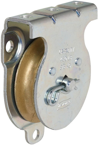 National Hardware N233-254 Wall & Ceiling Mount Single Pulley, Zinc Plated