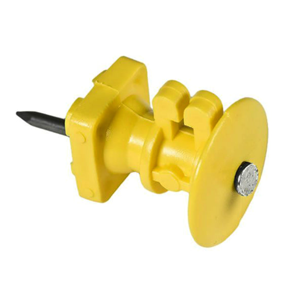Zareba IWKNY-Z Economy Insulator with Double Headed Nail, Yellow