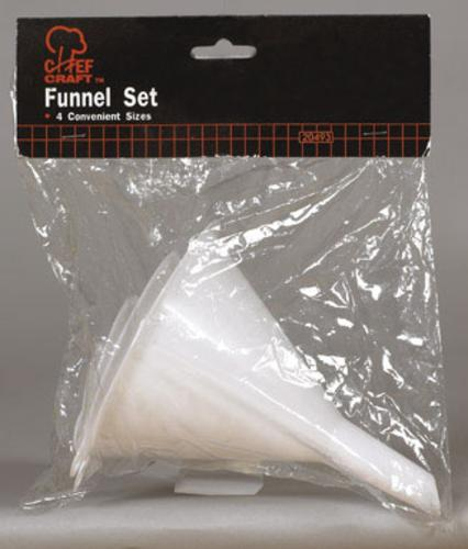 Chef Craft 20493 Funnel Set 4Pc, White