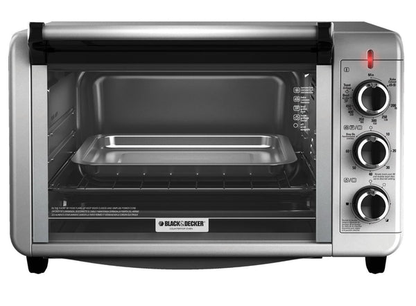 Black & Decker TO3210SSD Metal Toaster Oven Broiler, 6 Slice