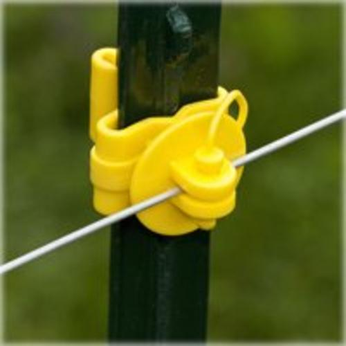 Fi-Shock ITPLY-FS Pin-Lock T-Post Insulator, Yellow
