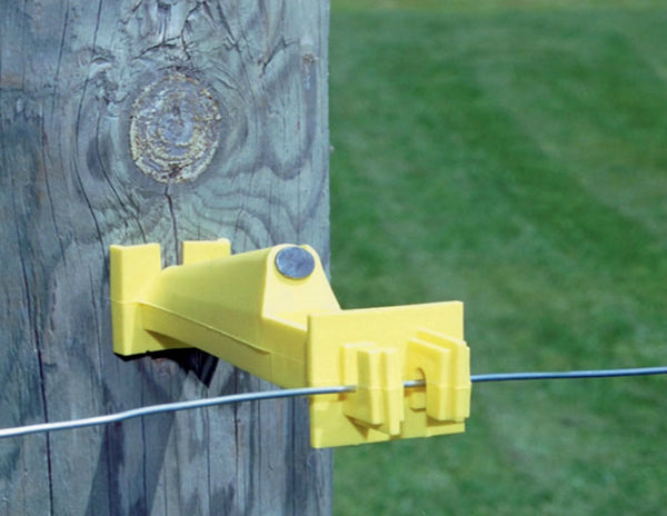 Zareba IW5XNY-Z Wood Post Fence Insulaor, Yellow