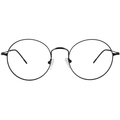 Black round metal glasses view 1