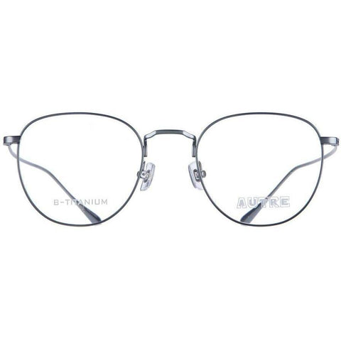 Gray thin rimmed glasses view 1
