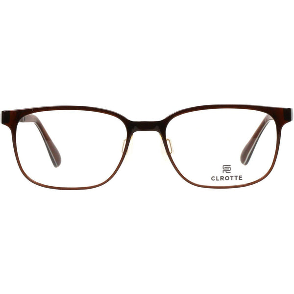 Lightweight brown rectangle eyeglasses by Clrotte view 1