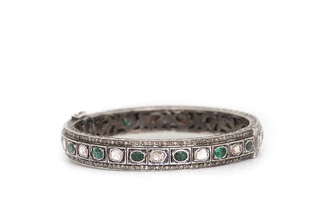 Diamond and Emerald Slice Bracelet