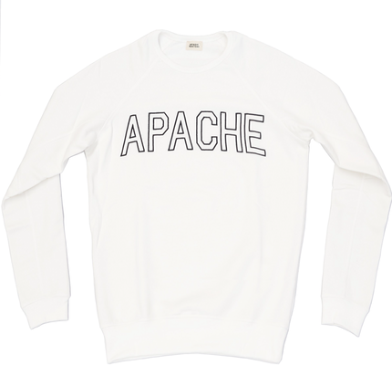 COLLEGE SWEATSHIRT - WHITE