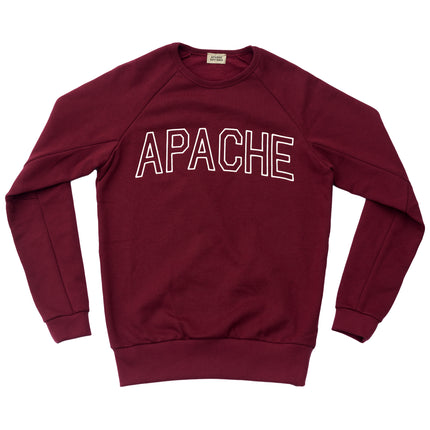 COLLEGE SWEATSHIRT - BORDEAUX
