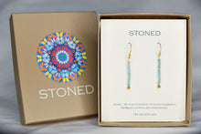 XE3APG Faceted Apatite Rondelle Earring Gold