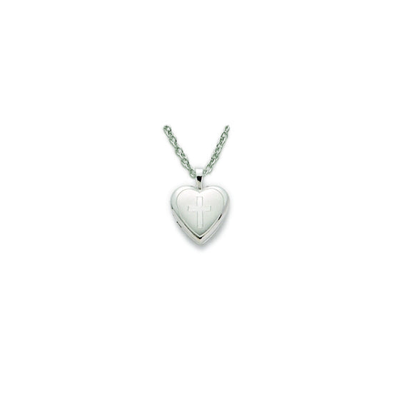 Small Heart Locket in Silver