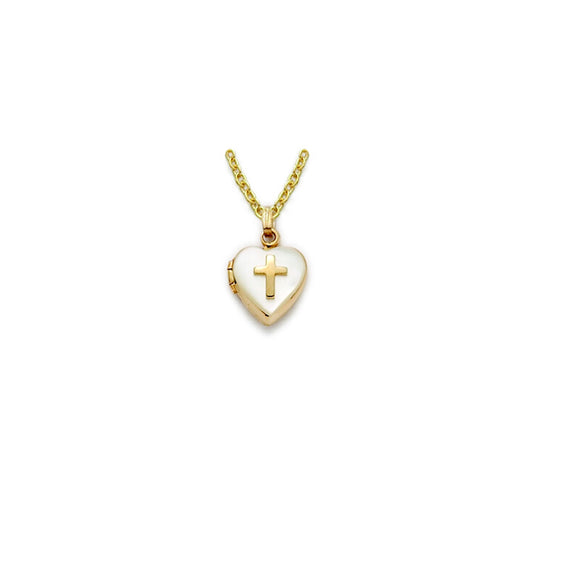 Gold & Pearl Heart Locket