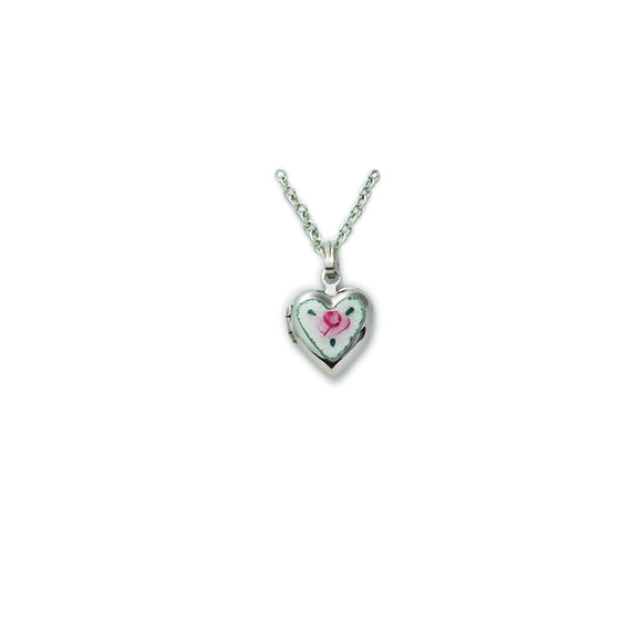 Small Rose Heart Locket