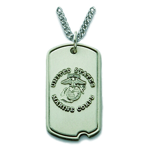 St. Michael Sterling Silver Marine Dog Tag