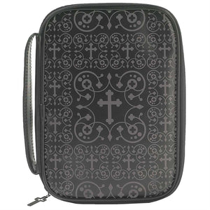 Black Damask Bible Case