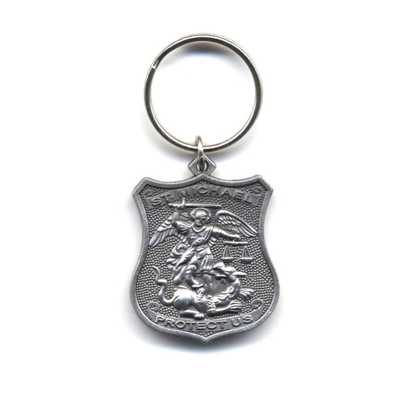 St. Michael Police Keychain