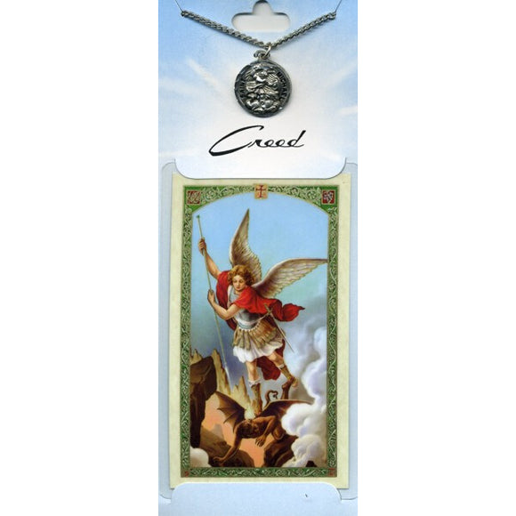 St. Michael Pewter Medal with Prayer Card