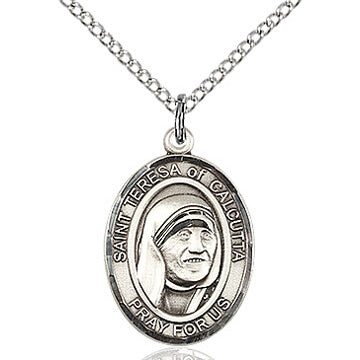 St. Teresa of Calcutta Sterling Silver Oval Medal