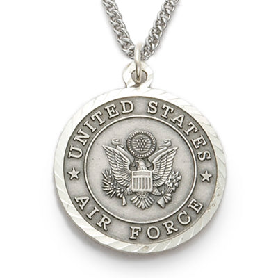 St. Michael Sterling Silver Airforce Medal