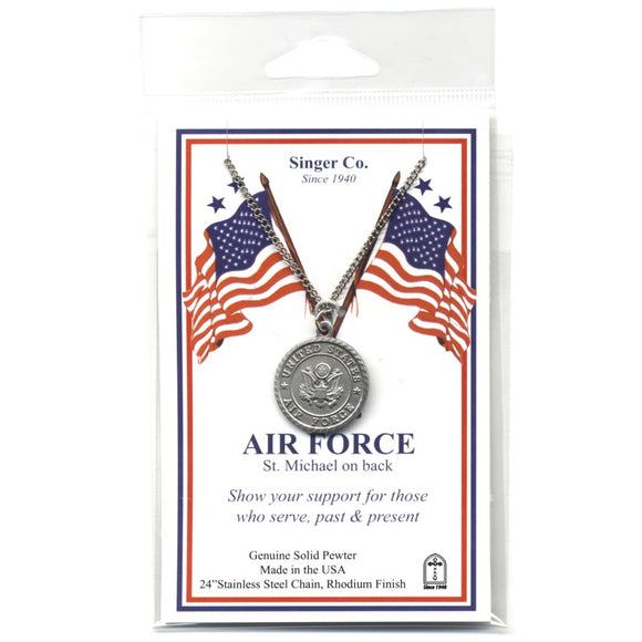 St. Michael Pewter Airforce Medal