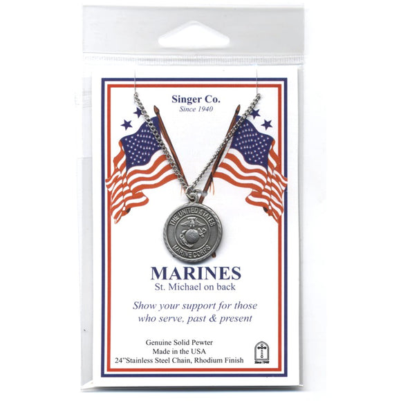St. Michael Pewter Marines Medal