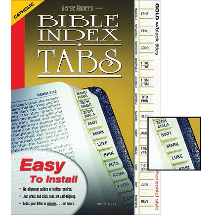 Horizontal Style Bible Index Tabs
