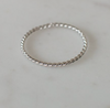 SOPHIE LITTLE OH RING TWIST SILVER