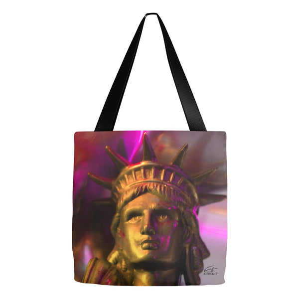 In Love with New York 'Liberty In Gold' Tote Bag