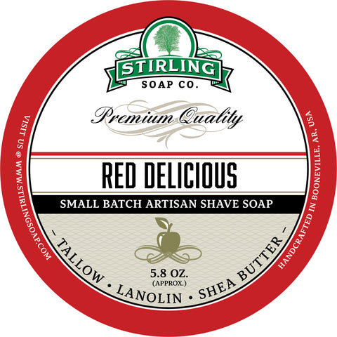Red Delicious - Shave Soap (JAR ONLY)