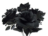 "2 Bushes Open Rose 7 Artificial Silk Flowers 15"" Bouquet 039 - Phoenix Silk Flower Marketplace"