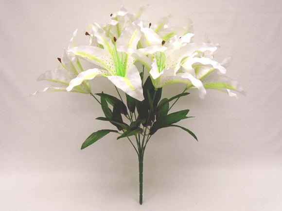 Tiger Lily Bush Satin 9 Artificial Flowers 18