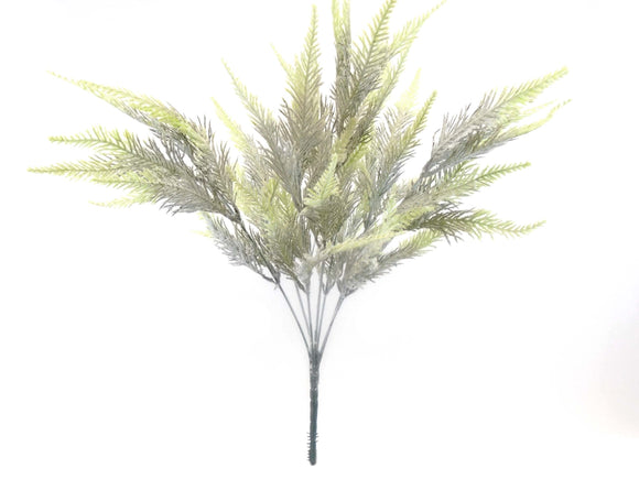 Frosted Fern Bush Artificial Plastic 21
