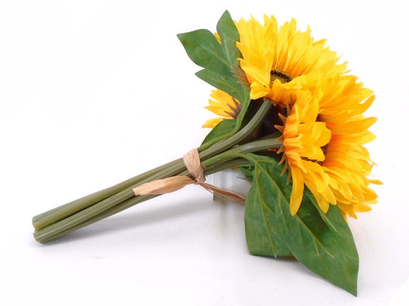 Yellow Sunflowers Bundle Artificial Silk Flowers 11
