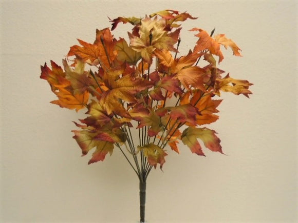 Maple Leaf Bush Artificial Silk Greenery 20