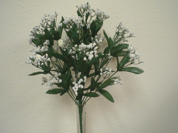 WHITE Gypsos Baby Breath Bush Artificial Foam Flowers 17