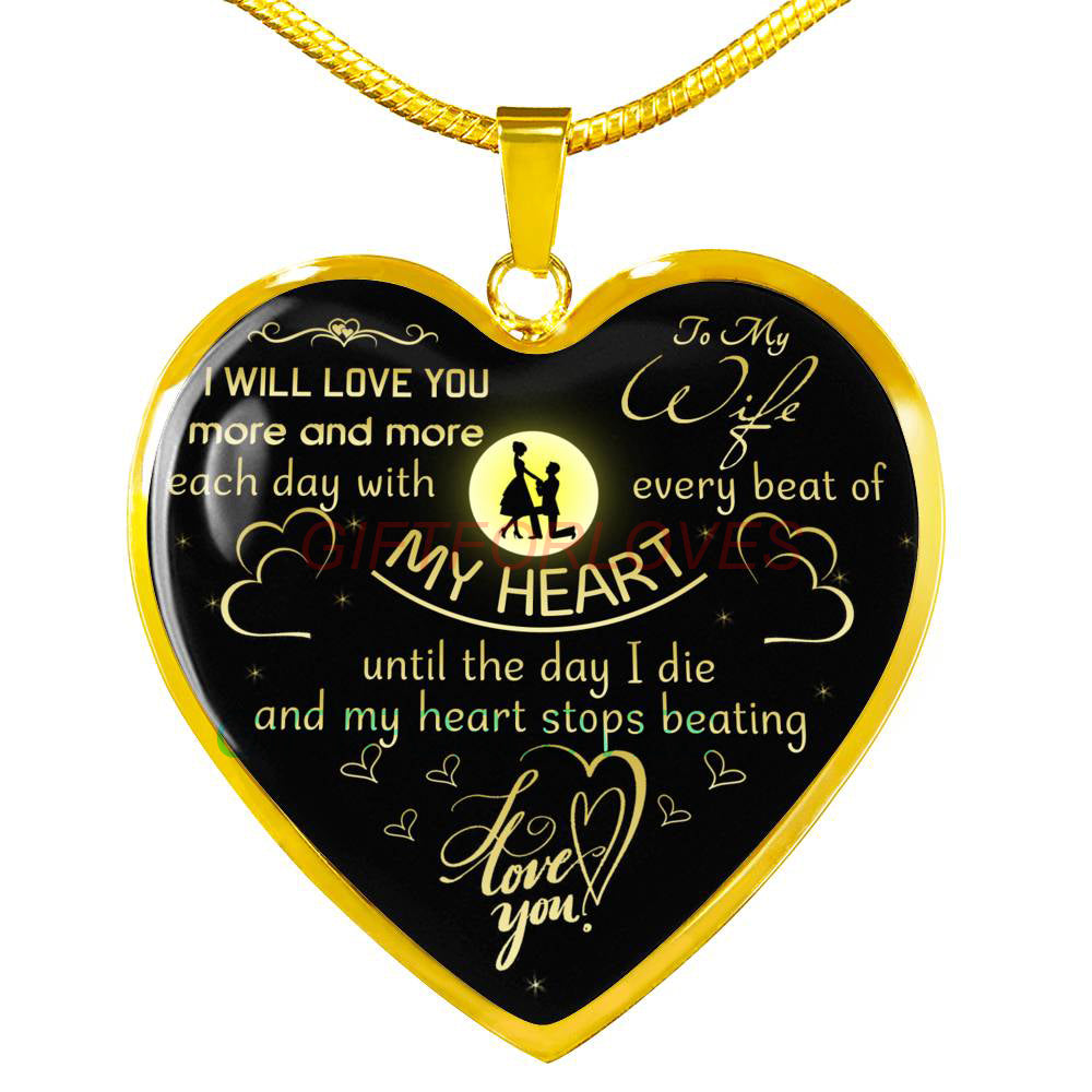 Christmas Ideas For Wife.To My Wife Gift For Christmas 2018 Christmas Gift Ideas For Wife Beautiful Wife Necklace Wife Necklace To My Wife Necklace Best Gifts For Wife