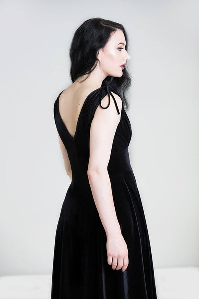Black velvet Melina dress