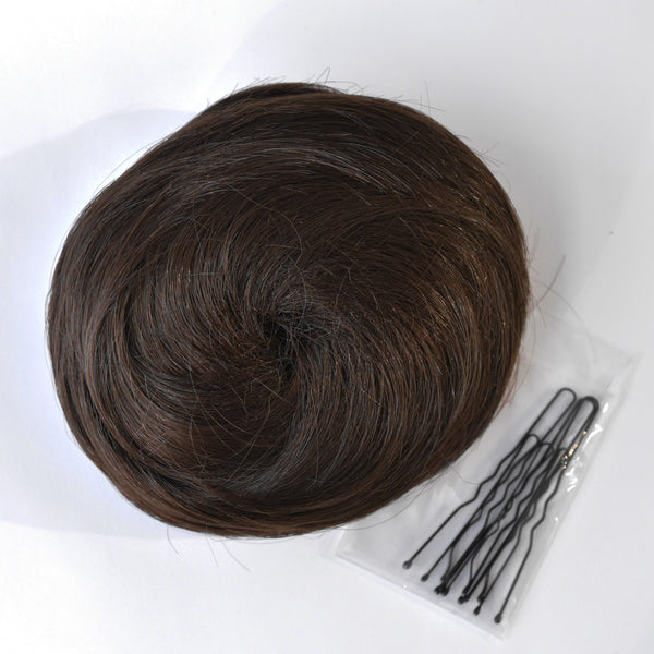 dance hair bun dark brown