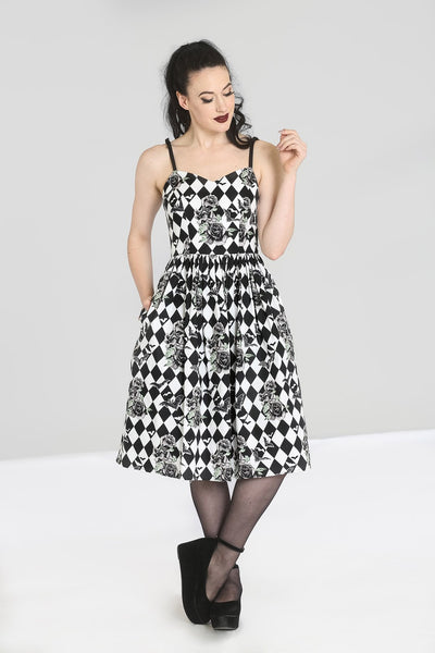 Hell Bunny Hauntley dress modeled front